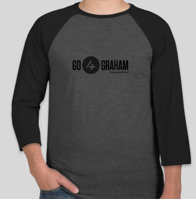 2020 Go4Graham Bella + Canvas Lightweight Baseball Raglan Black/Grey