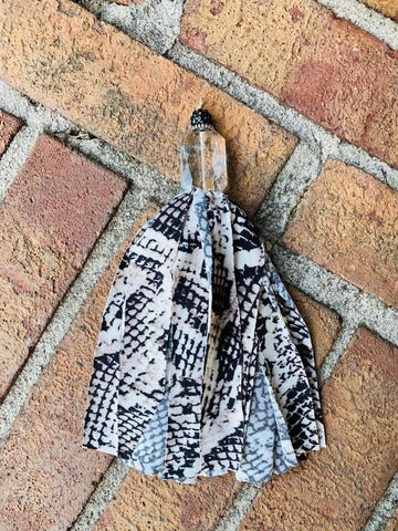 Snakeskin Single tassel