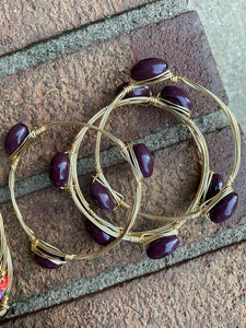 Gold football wire bracelet