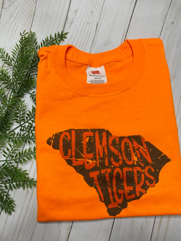Orange Clemson Tigers shirt