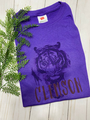 Clemson Tiger Purple shirt