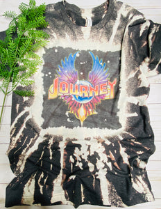 Bleached Journey Band Graphic Tee