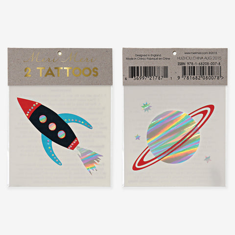 2 tattoo sheets - Space
