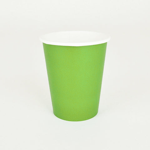 8 cups - Lime green