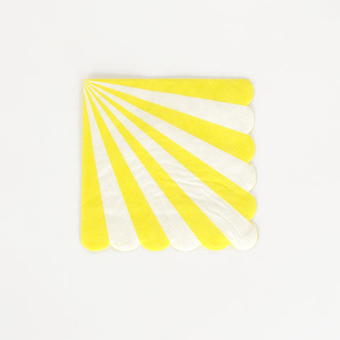 20 napkins - small yellow striped
