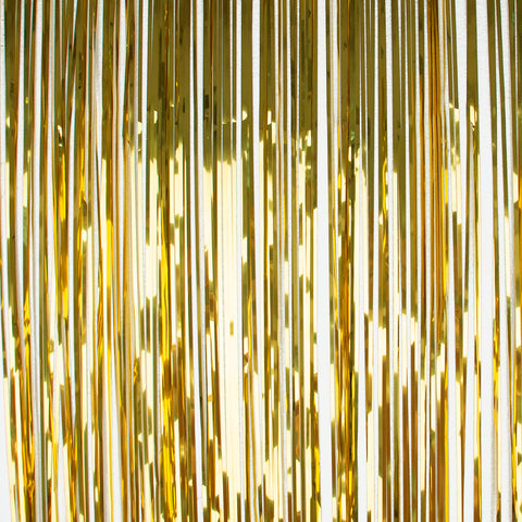 Fringe Curtain - Gold