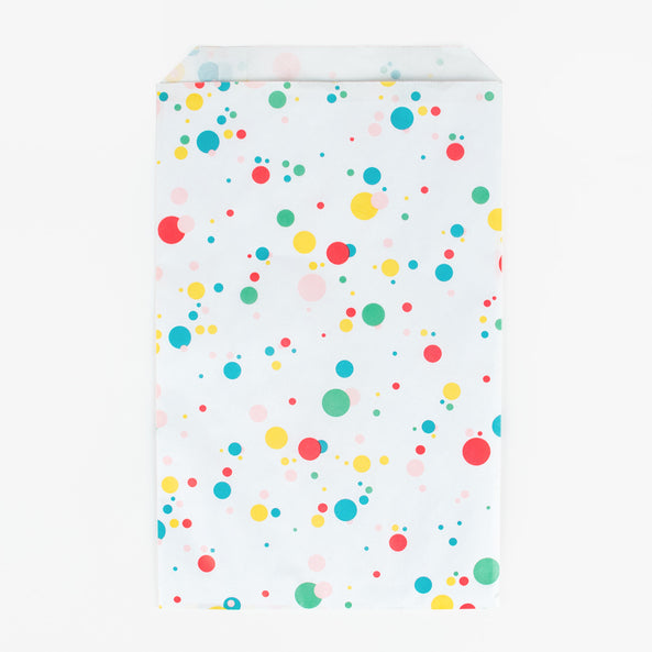 10 paper bags - Multicoloured bubbles