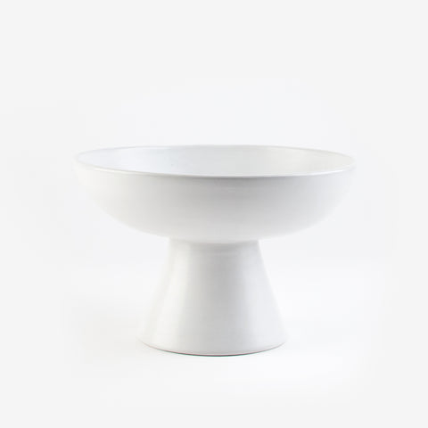 Tadelakt fruit bowl - Large white model