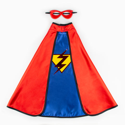 Dress up - Cape and Reversible Mask - Superhero