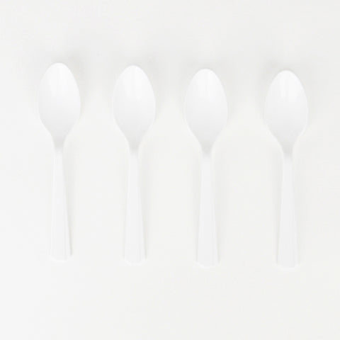 10 small spoons - White