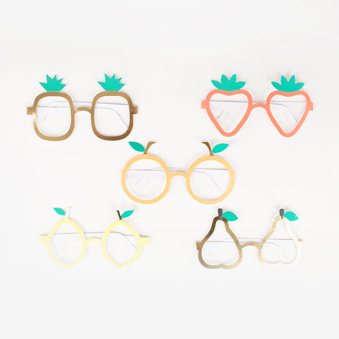10 party glasses - Fruit