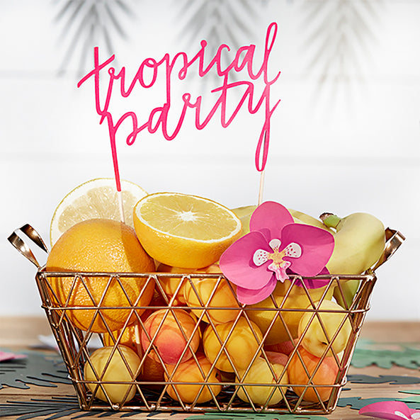 1 topper - Tropical party