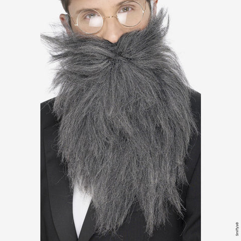Long beard and mustaches - gray