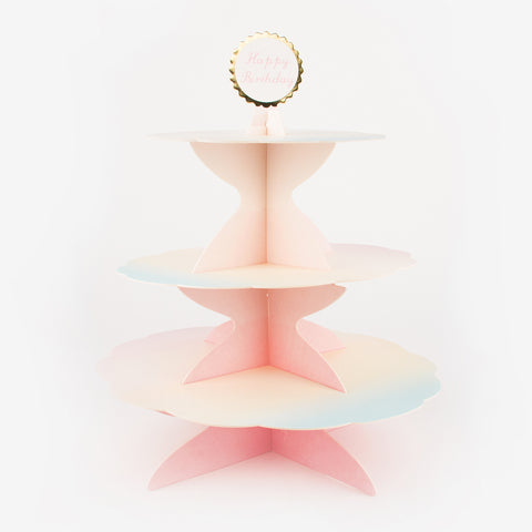 Pastel 3 tier cake stand