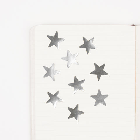Silver stars stickers