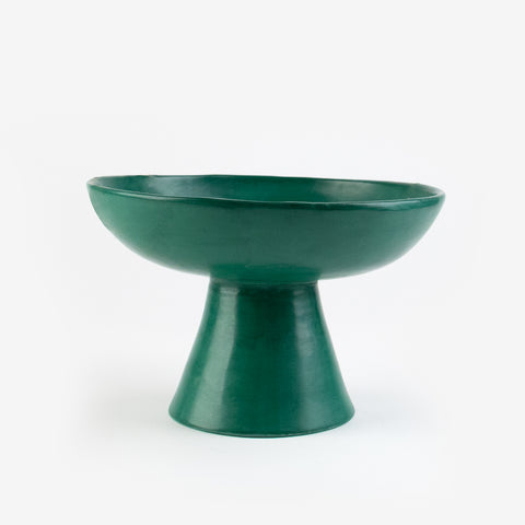 Tadelakt fruit bowl - Large dark green model