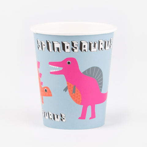 12 Paper cups - Dinosaurs