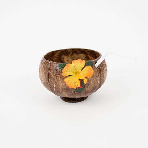 1 cup with straw - Coconut and flower