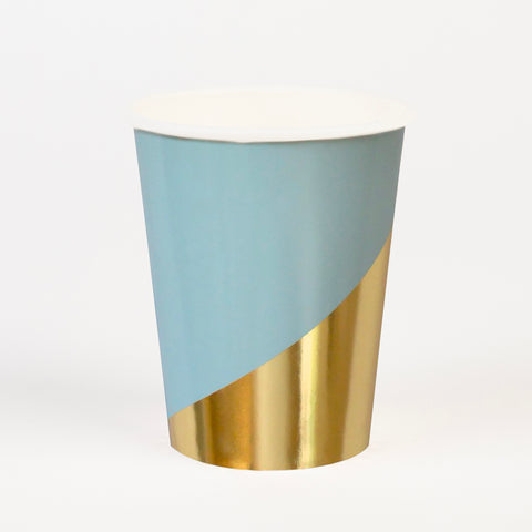 8 cups - Blue and gold