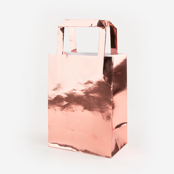 5 Party Bags - Rose Gold