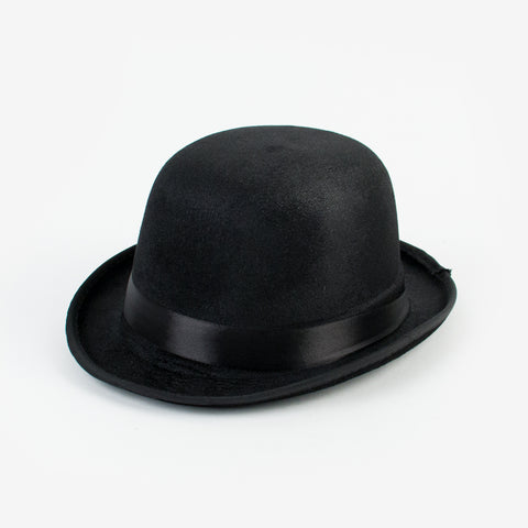 Round melon hat - black satin