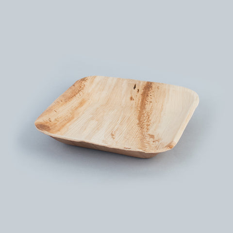 1 small square plate - Palm
