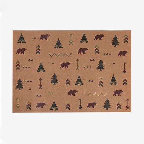 8 placemats - Indian forest