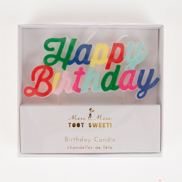 1 candle - Happy Birthday - Multicolour