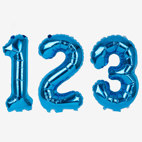 Small blue foil balloon - Number