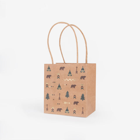 4 gift bags - Indian forest