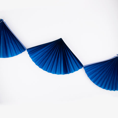 Fan garland - Navy blue