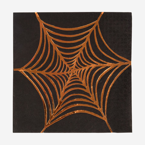 8 napkins - Spiderweb