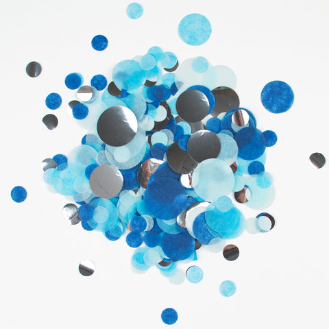Confetti My Little Day - Blue and silver