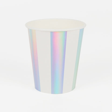 8 cups - Iridescent stripes