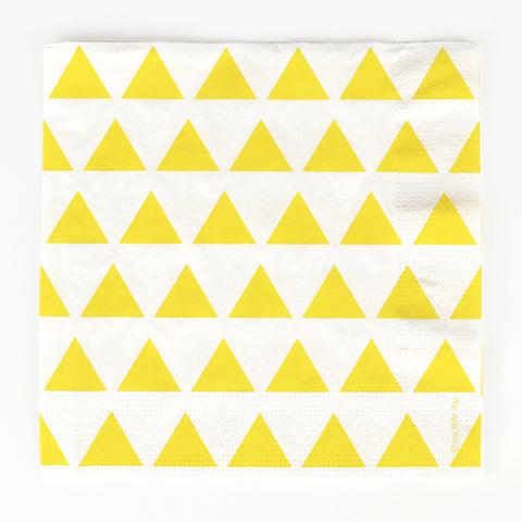 20 napkins - Yellow triangles