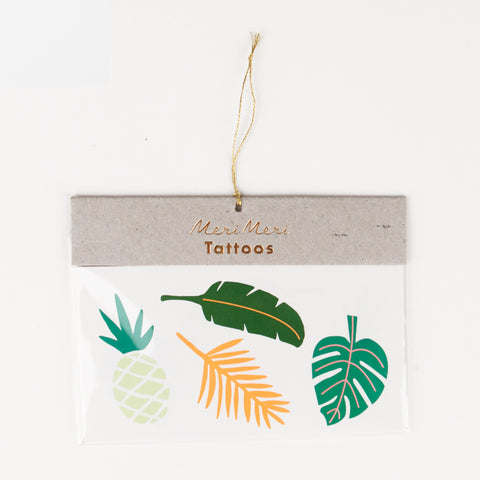2 tattoos - Tropical leaves