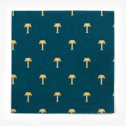 20 napkins - Gold palm trees