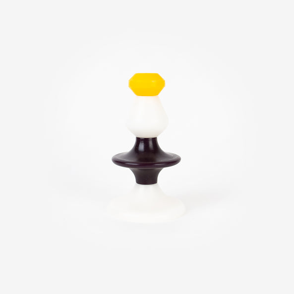 1 set of stackable candles - Yellow and black