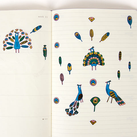 Djeco - mini feathers stickers