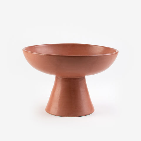 Tadelakt fruit bowl - Large caramel model