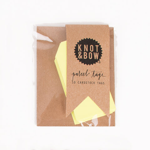 10 gift tags - Neon yellow