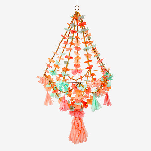 Pakaji chandelier - Neon and gold