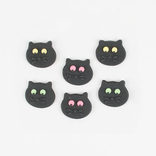 6 cupcake toppers - Cat