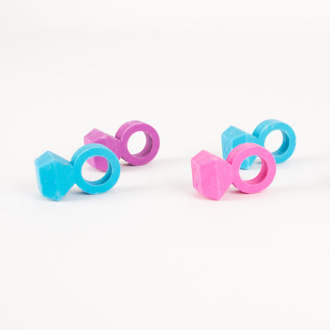 6 candy scented eraser - Rings