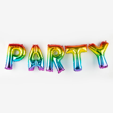 Foil balloons - Party - Rainbow