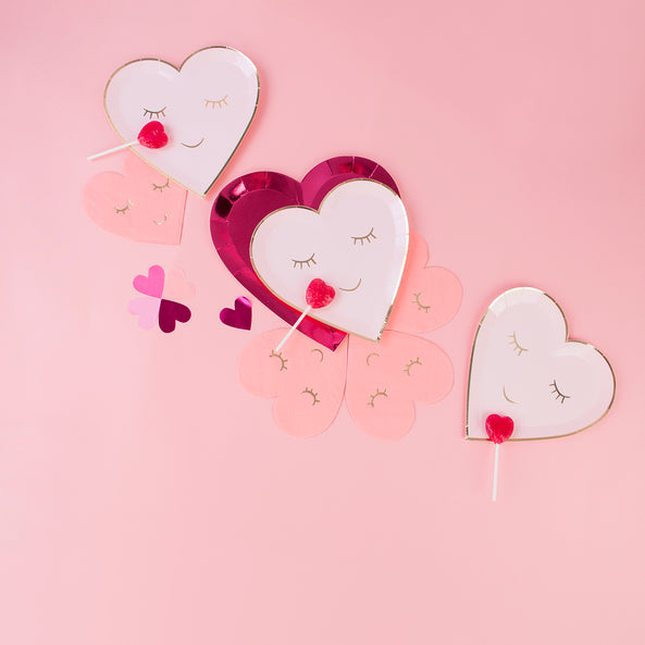 50 stickers - Pink hearts