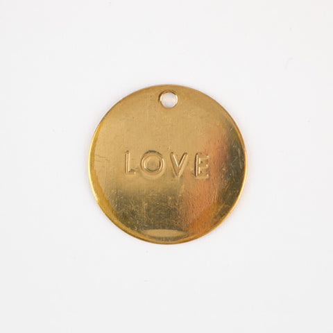 1 gift tag - Love - Gold