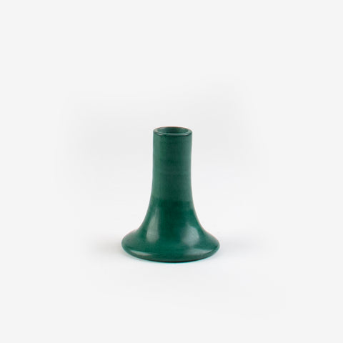 Tadelakt Candle Holder - Dark green