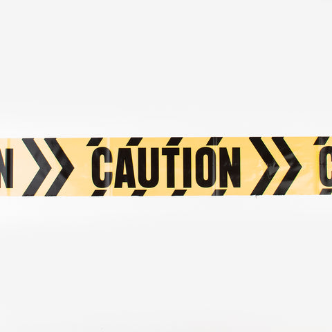 Black and yellow caution ribbon