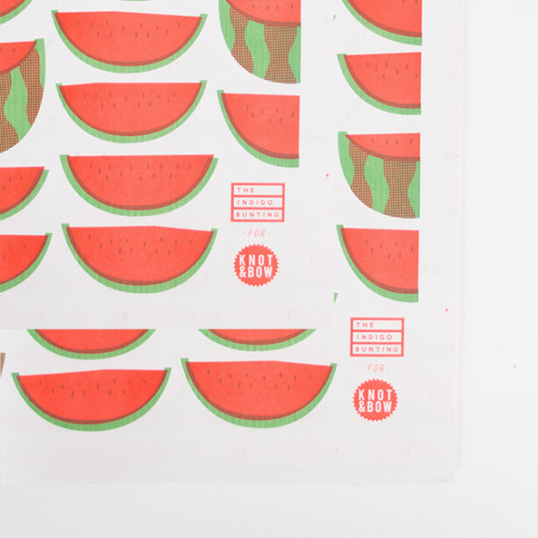 4 sheets of wrapping paper - Watermelons